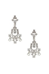 Topshop Rhinestone Crystal Chandelier Earrings Clear