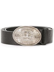 Dsquared2 Embossed Plaque Belt Black