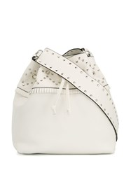 Red Valentino Studded Bucket Bag White