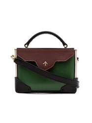 Manu Atelier Green Micro Leather Satchel Bag