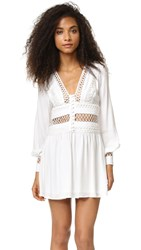 Free People I Think I Love You Mini Dress Ivory
