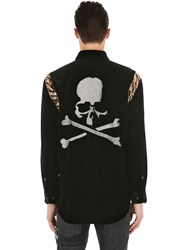 Mastermind World Tiger Patch Chenille And Silk Shirt Black Tiger