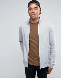 New Look Track Jacket In Grey Grey Marl