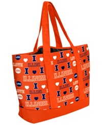 Forever Collectibles Illinois Fighting Illini Tote Bag Navy