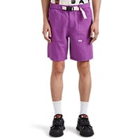 Ovadia And Sons Belted Cotton Ripstop Cargo Shorts Purple