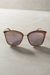 Anthropologie Caliente Mirrored Sunglasses Violet