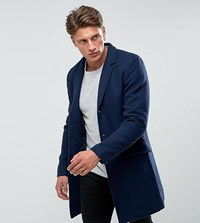 Only And Sons Overcoat Dress Blue