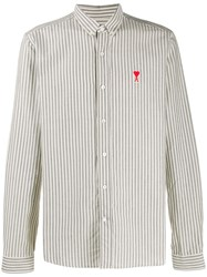 Ami Alexandre Mattiussi Paris Button Down Shirt De Coeur Patch 60
