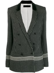 Haider Ackermann Longline Double Breasted Blazer Black