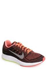 Men's Nike 'Zoom Structure 18' Running Shoe Hot Lava Silver Volt Black