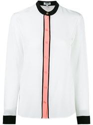 Kenzo Colour Block Blouse White