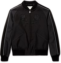 Gucci Appliqued Wool And Mohair Blend Souvenir Jacket Black