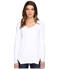 Mod O Doc Classic Jersey Long Sleeve Tee W Thermal Contrast White Women's T Shirt