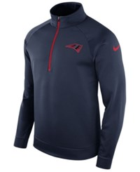 Nike New England Patriots Lightweight Therma Quarter Zip Pullover Navy