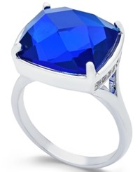 Charter Club Blue Stone Silver Tone Ring Only At Macy's