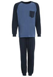 Schiesser Set Pyjamas Dunkelblau Dark Blue