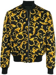 Versace Printed Bomber Jacket Black