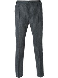 Soulland Pinstripe Trousers Grey