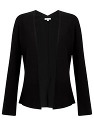 Jigsaw Flute Back Knit Jacket Black