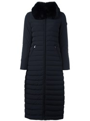 Peuterey Zipped Hooded Long Coat Black