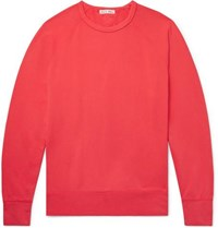 Alex Mill Loopback Cotton Jersey Sweatshirt Red