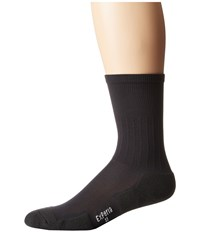 Thorlos Experia Dress Crew Single Pair Charcoal Crew Cut Socks Shoes Gray