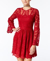 American Rag Embroidered Lace Fit And Flare Dress Only At Macy's Chilli Pepper