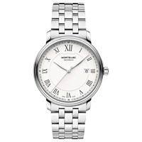 Montblanc 112610 Men's Tradition Automatic Stainless Steel Bracelet Watch Silver
