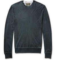 Berluti Cashmere And Silk Blend Sweater Green