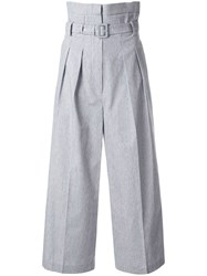 Pushbutton Front Up Pintuck Wide Trousers 60