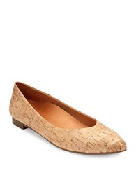 Vionic Gem Caballo Metallic Cork Flats Gold Cork