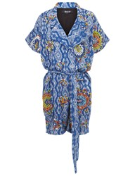 All Things Mochi Blue Cotton Beaded Umgeni Playsuit