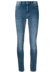 Marc Cain Faded Slim Fit Jeans Blue