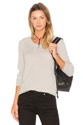 Atm Anthony Thomas Melillo Round Neck Cashmere Sweater Light Gray