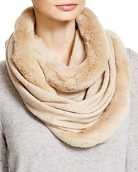 Magaschoni Fur Infinity Scarf Chestnut Mouline