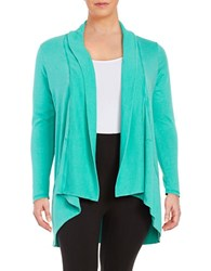 Marc New York Performance Open Front Knit Cardigan Green