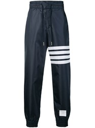 Thom Browne 4 Bar Relaxed Fit Track Pants Blue
