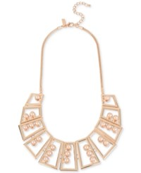 Inc International Concepts M. Haskell For Geometric Statement Necklace Only At Macy's Rose Gold