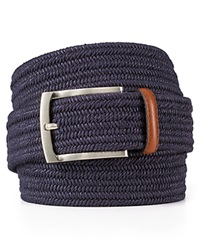 The Men's Store At Bloomingdale's Stretch Braided Belt Navy