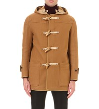 Burberry Toggle Fastened Wool Duffle Coat Mid Camel