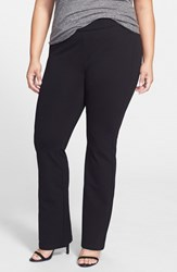 Plus Size Women's Nydj 'Belinda' Pull On Stretch Knit Bootcut Pants