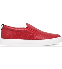 Gucci Dublin Leather Skate Shoes Red