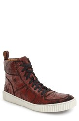 John Varvatos Men's Star Usa 'Bedford' High Top Sneaker Brick Red Leather