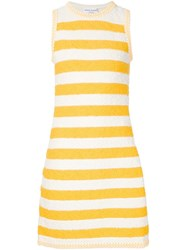 Sonia Rykiel Striped Boucla Dress Yellow And Orange