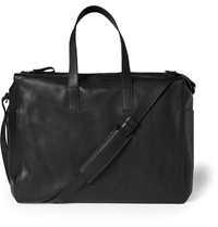 Alexander Mcqueen Skull Perforated Leather Holdall Black