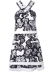 Carven Halter Dress Women Silk Polyester Acetate 34 White