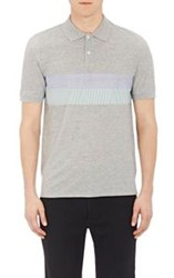 Band Of Outsiders Striped Panel Inset Polo Shirt Multi Size 0 Xs