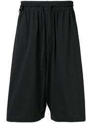 Y 3 Striped Track Shorts Black