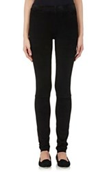 The Row Women's Bonded Suede Moto Leggings Black