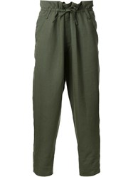 Haider Ackermann Drop Cropped Trousers Green